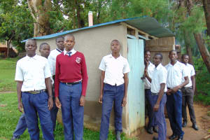The Water Project: Friends Secondary School Shirugu -  Boys Outside Pit Latrines