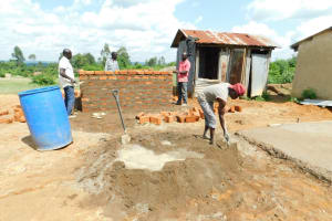 The Water Project: Enyapora Primary School -  Latrine Construction Begins