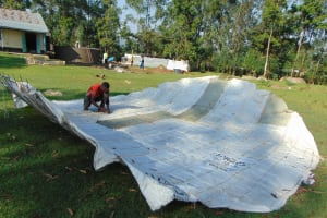 The Water Project: Ematiha Secondary School -  Preparing The Dome
