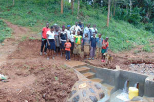 The Water Project: Mushina Community, Shikuku Spring -  Training Participants At The Spring