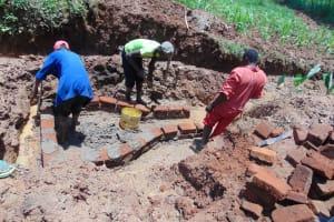 The Water Project: Shamakhokho Community, Imbai Spring -  Spring Construction