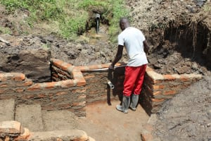 The Water Project: Emmachembe Community, Magina Spring -  Wall Measurements