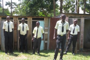 The Water Project: St. Gerald Mayuge Secondary School -  Boys At Their Latrines