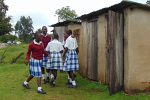 The Water Project: Friends Secondary School Shirugu -  Girls Heading To The Latrines