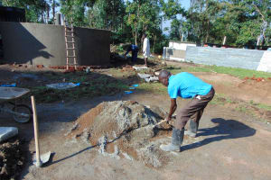 The Water Project: Ematiha Secondary School -  Mixing Cement