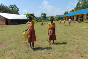 The Water Project: St. Margret Wadin'go Primary School -  Students Carrying Bricks