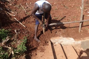 The Water Project: Hirumbi Community, Khalembi Spring -  Fencing Around Backfilled Spring Box