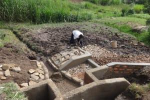 The Water Project: Bungaya Community, Charles Khainga Spring -  Construction In Progress