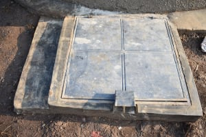 The Water Project: Shinyikha Primary School -  Manhole Cover At Tank Access Area