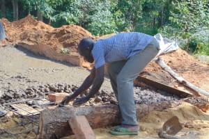 The Water Project: Musasa Primary School -  Latrine Foundation Construction