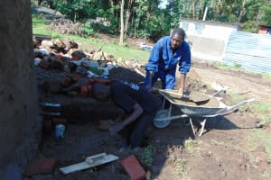 The Water Project: Ematiha Secondary School -  Building The Access Area