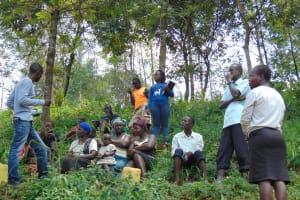 The Water Project: Mushina Community, Shikuku Spring -  Training Uphill Of The Spring