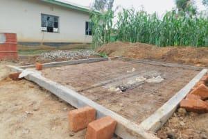 The Water Project: Elufafwa Community School -  Latrine Foundation Markers