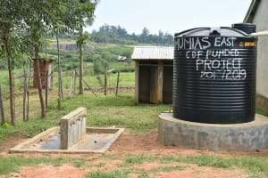 The Water Project: Khwihondwe SA Primary School -  Current Water Source A Small Rain Tank