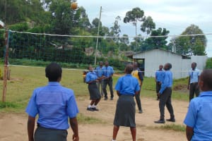The Water Project: Malinda Secondary School -  Students On The Playground