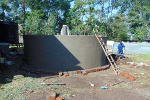 The Water Project: Ematiha Secondary School -  Ready For The Dome To Be Added
