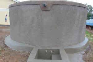 The Water Project: Goibei Primary School -  Fresh Cement Apron And Tap Area