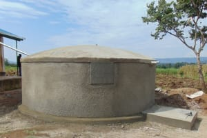 The Water Project: Mukangu Primary School -  Dome Cemented On