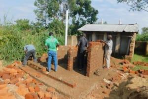 The Water Project: Elufafwa Community School -  Latrine Wall Construction