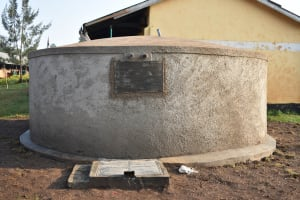 The Water Project: Shinyikha Primary School -  Completed Rain Tank