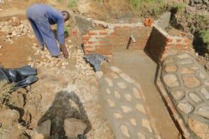 The Water Project: Sichinji Community, Kubai Spring -  Stair Construction