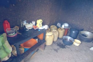 The Water Project: Friends School Ikoli Secondary -  Water Storage Containers In The Kitchen