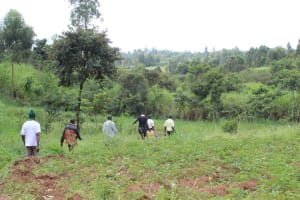 The Water Project: St. Gerald Mayuge Secondary School -  Going To Fetch Water At The Spring