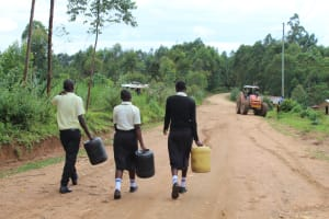 The Water Project: St. Gerald Mayuge Secondary School -  Students On Way To Collect Water