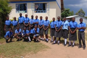 The Water Project: Malinda Secondary School -  Students Pose At The School Entrance