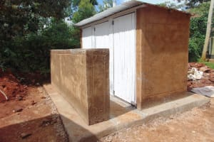 The Water Project: Womulalu Special School -  Latrines Nearing Completion