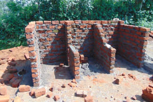 The Water Project: St. Margret Wadin'go Primary School -  Latrine Stalls Take Shape