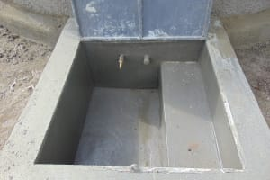 The Water Project: Mukangu Primary School -  Tap Area And Manhole Completed