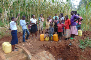 The Water Project: Hirumbi Community, Khalembi Spring -  Training At The Spring Construction Site