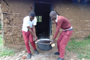 The Water Project: Friends School Ikoli Secondary -  Students Carrying Tea From Kitchen