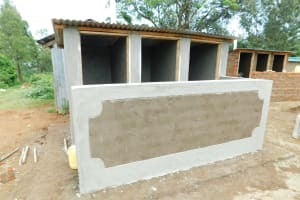 The Water Project: Enyapora Primary School -  Latrine Block Nearing Completion