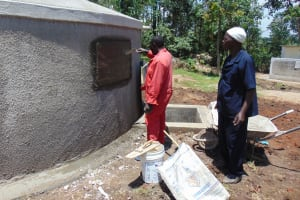 The Water Project: Ematiha Secondary School -  Inscribing The Rain Tank