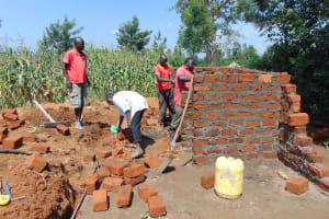 The Water Project: St. Margret Wadin'go Primary School -  Latrine Construction