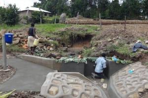 The Water Project: Bungaya Community, Charles Khainga Spring -  Spring Construction