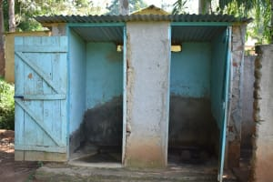 The Water Project: Ebubole UPC Secondary School -  Boys Latrine