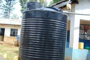 The Water Project: Kapsogoro Primary School -  Small Plastic Rain Tank