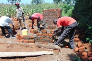 The Water Project: St. Margret Wadin'go Primary School -  Measuring Brickwork
