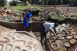 The Water Project: Bungaya Community, Charles Khainga Spring -  Field Officer Mary Afandi Supervising Works