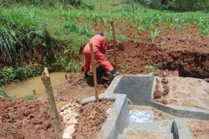 The Water Project: Shamakhokho Community, Imbai Spring -  Preparing To Backfill