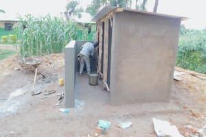 The Water Project: Elufafwa Community School -  Latrine Construction