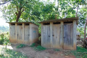 The Water Project: Friends Kuvasali Secondary School -  Latrines