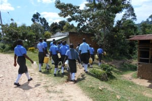 The Water Project: Malinda Secondary School -  Passing Through The Village To The Spring