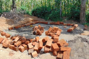 The Water Project: Mukangu Primary School -  Latrine Brickwork
