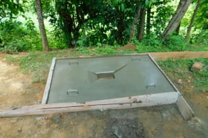 The Water Project: Bung'onye Community, Shilangu Spring -  Sanitation Platform Drying