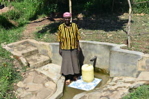 The Water Project: Bukhanga Community, Indangasi Spring -  Mama Indangasi The Spring Landowner