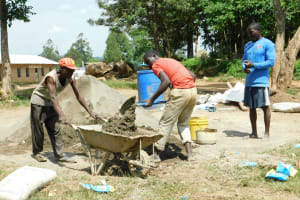 The Water Project: Enyapora Primary School -  Mixing Cement